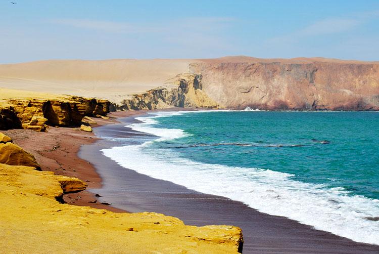 lima beaches paracas